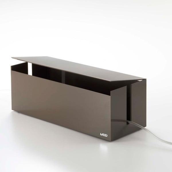 Hnědý box na nabíječky Yamazaki Web Cable Box