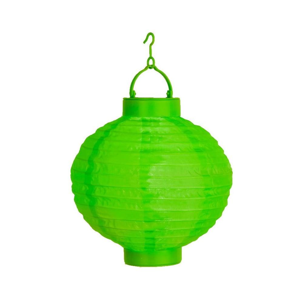 Zelený venkovní solární LED lampion Best Season Summer, ø 30 cm