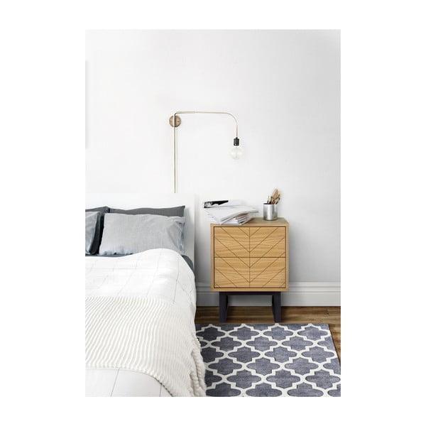Noční stolek z březového dřeva Woodman Mora Herringbone Print