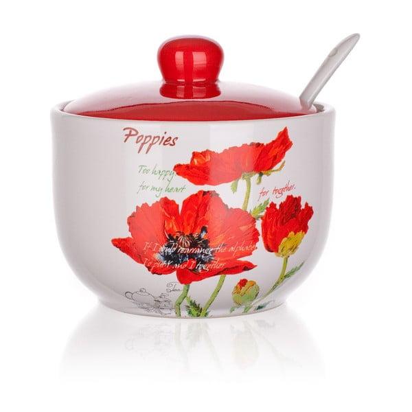 Cukřenka se lžičkou Banquet Red Poppy
