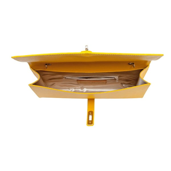 Žlutá kožená kabelka Andrea Cardone 1010