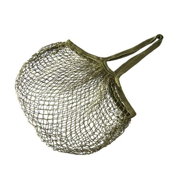 Olivovozelená sieťová nákupná taška Orion String