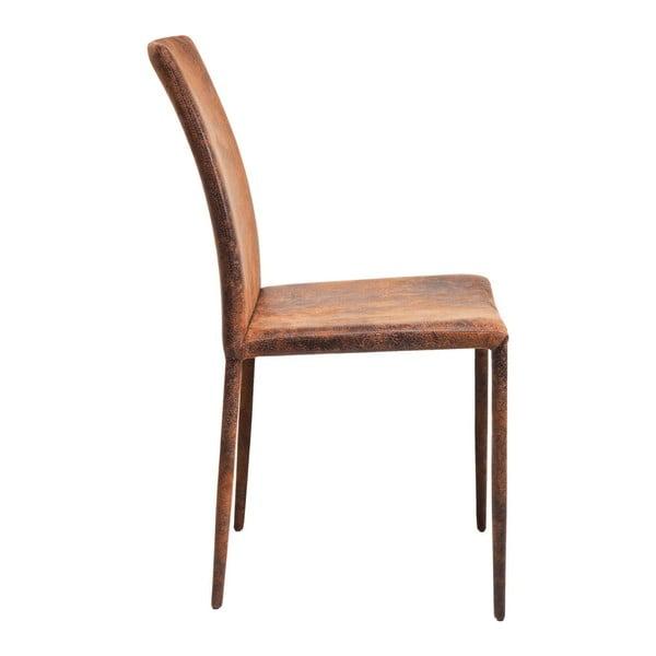 Sada 2 hnědých jídelních židlí Kare Design Milano