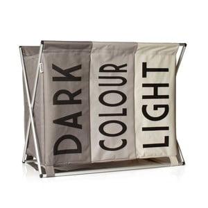 Béžový koš na špinavé prádlo Sabichi Light, Dark & Coloured