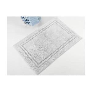 Šedá ručně tkaná koupelnová předložka z prémiové bavlny Margot, 50x75 cm