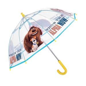 Dětský transparentní holový deštník Ambiance Birdcage Alpha, ⌀64cm