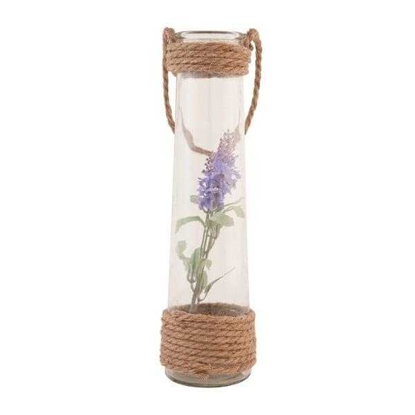 Skleněná váza s umělou květinou Clayre, 35 cm