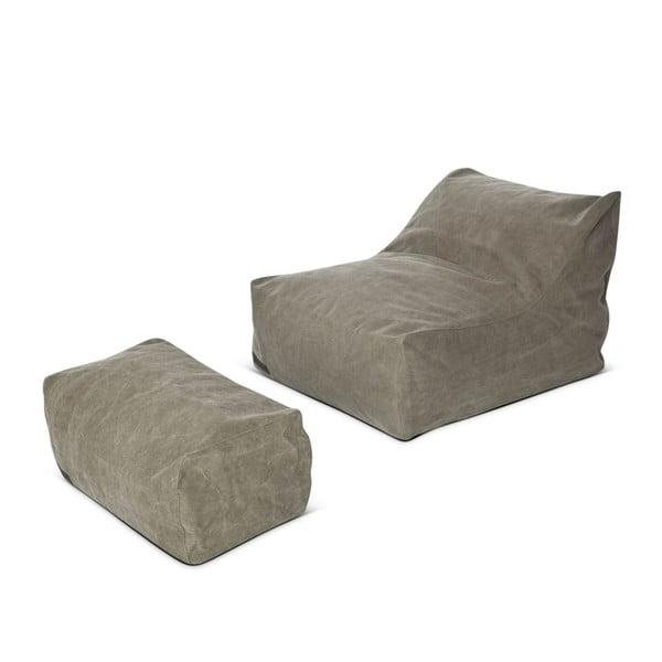 Sedací taburetka Lounge Pouf Club Series, khaki