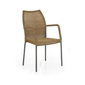 Zahradní židle v přírodní barvě s opěradly na ruce Brafab Angelica