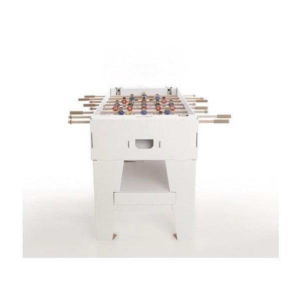 Kartonový stolní fotbálek Kartoni, bílý
