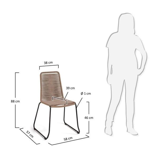 Sada 4 béžových židlí La Forma Meagan