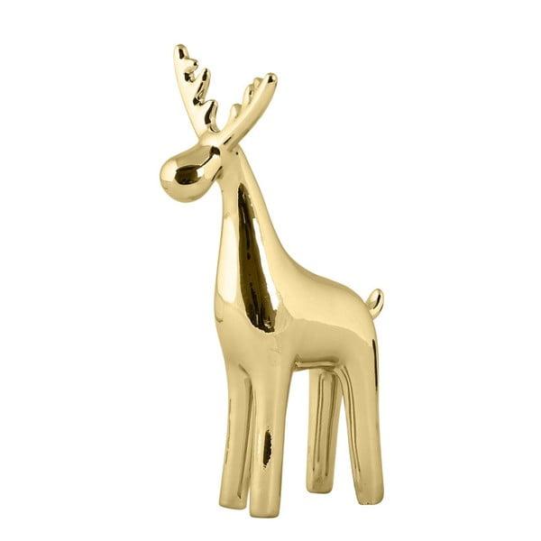 Dekorativní soška KJ Collection Reindeer Ceramic Gold