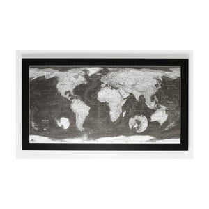 Mapa světa The Future Mapping Company Monochrome World Map, 130 x 72 cm