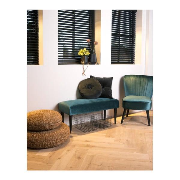 Zelená lavice se sametovým potahem Leitmotiv Luxury
