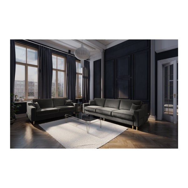 Tmavě šedá dvoumístná pohovka Mazzini Sofas Marigold