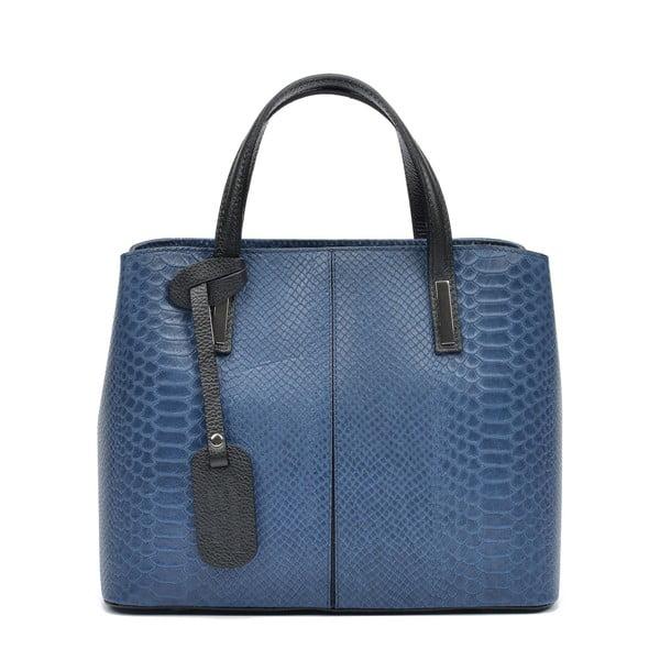 Modrá kožená kabelka Roberta M Elisa
