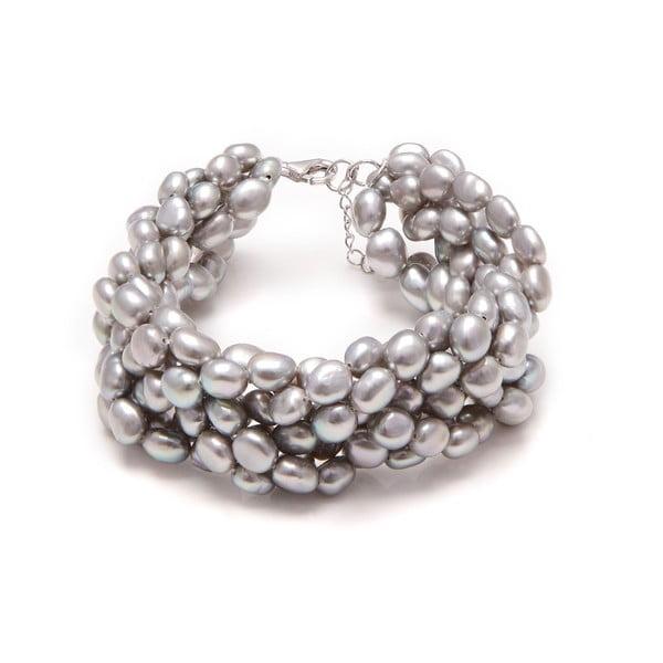 Náramek z říčních perel GemSeller Linum, stříbrné perly