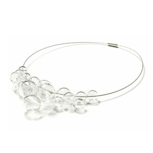 Skleněný náhrdelník Ko–ra–le Crystal Foam