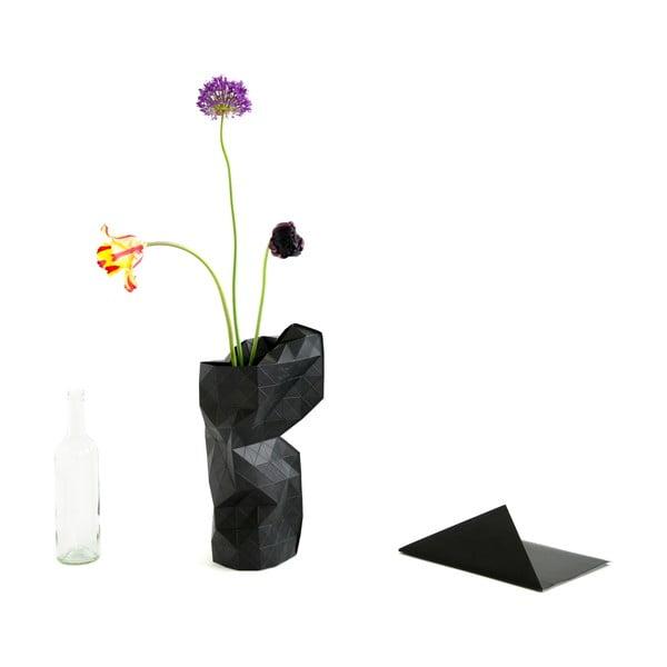 Papírová váza Black