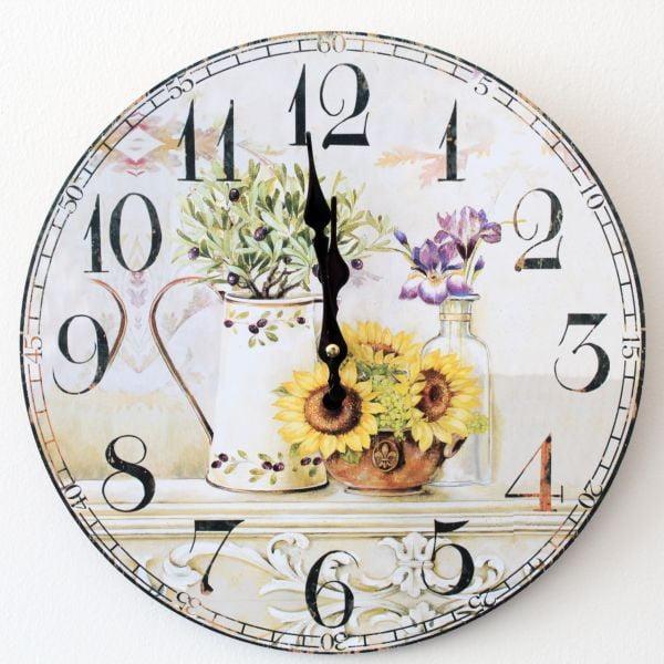 Vintage hodiny Slunečnice II