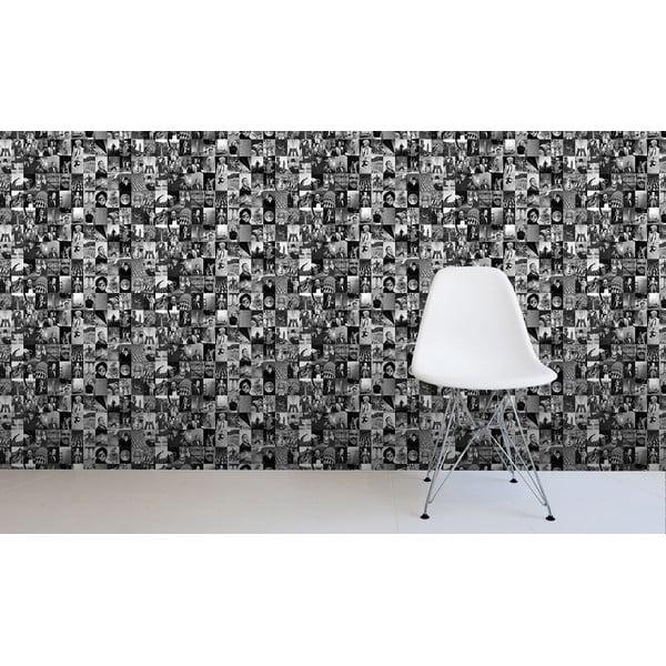 Role tapety Černobílý život, 53x1005 cm