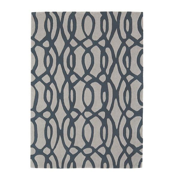 Vlněný koberec Wire Blue 200x300 cm
