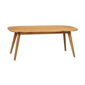Přírodní konferenční stolek z dubového dřeva Folke Yumi, 125x60cm