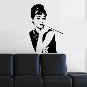Vinylová samolepka na stěnu Audrey