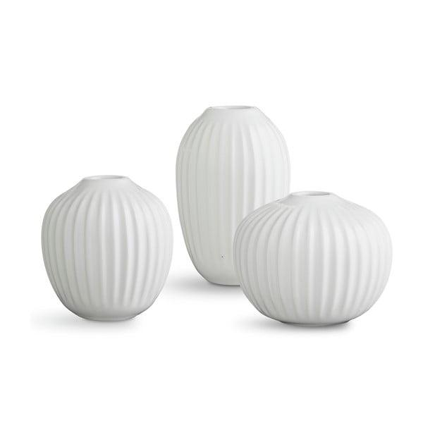 Hammershoi Miniature 3 db-os fehér agyagkerámia váza szett - Kähler Design