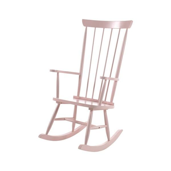 Różowy fotel bujany Vipack Rocky
