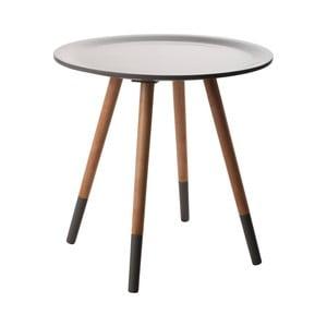 Tmavě šedý odkládací stolek Zuiver Two Tone