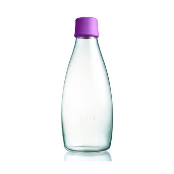 Fialová skleněná lahev ReTap s doživotní zárukou, 800ml