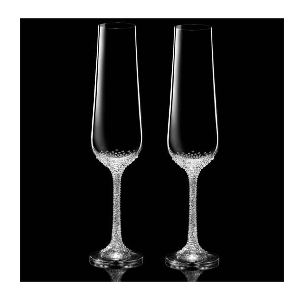 Sada 2 šampaňských fléten Artemis se Swarovski Elements v luxusním balení