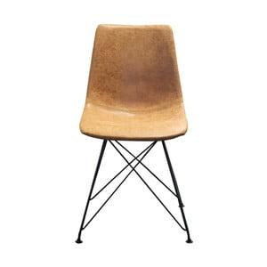 Hnědá židle s černou kovovou konstrukcí Red Cartel Clyde