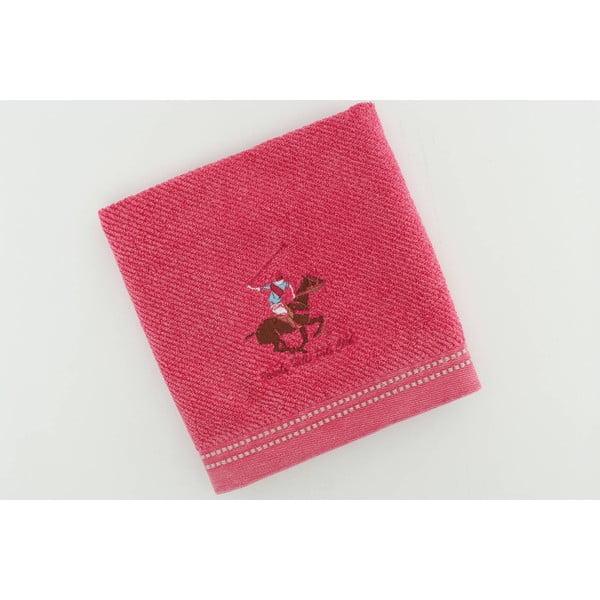 Bavlněný ručník BHPC s výšivkou 50x100 cm, růžový