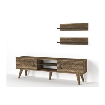 Set comodă TV și 2 rafturi de perete Tera Home Legato imagine