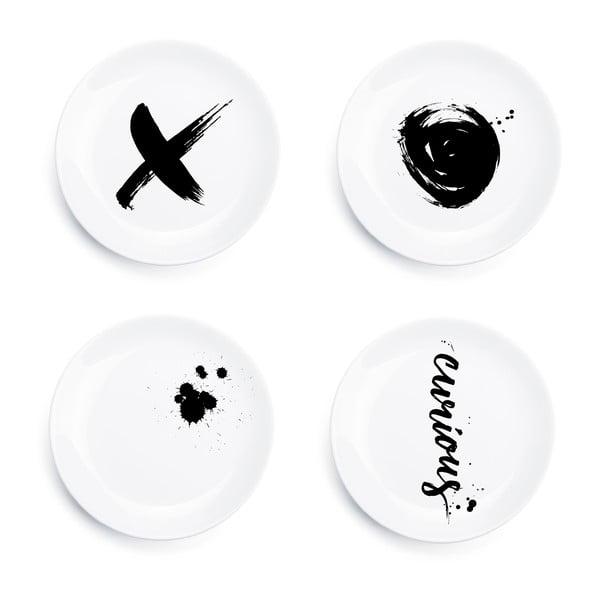 Sada 4 talířů Ink Plates