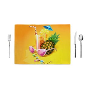 Suport farfurie Home de Bleu Tropical Coctail, 35 x 49 cm