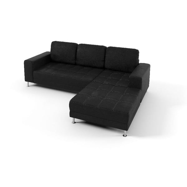 Rohová sedačka Foster, černá