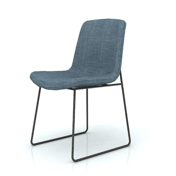 Krzesło z niebieskim siedziskiem Livin Hill Flow