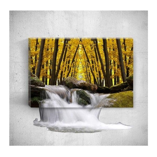 Autumn Waterfalls 3D fali kép, 40 x 60 cm - Mosticx