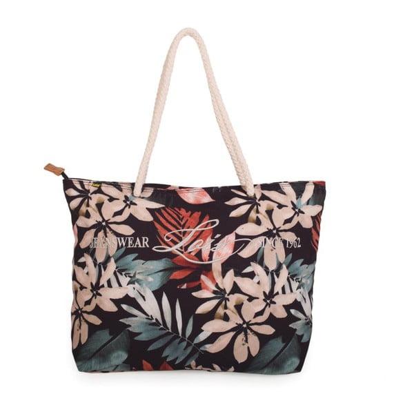 Černá plátěná taška s květy Lois Playera
