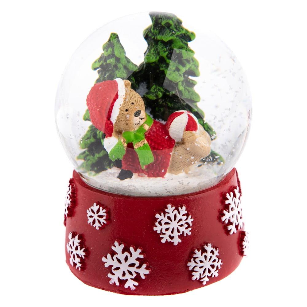 Červené sněžítko s medvídkem Dakls