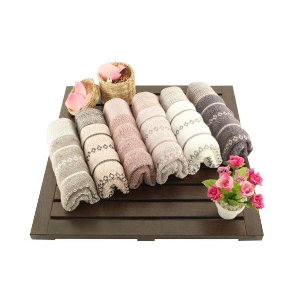Zestaw 6 ręczników Madame Coco Bombeli Wash, 30x50 cm