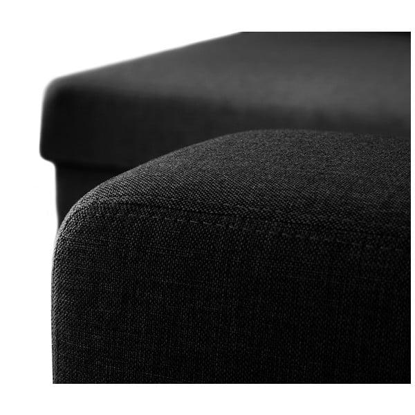 Černá pohovka Florenzzi Catalanis lenoškou na levé straně