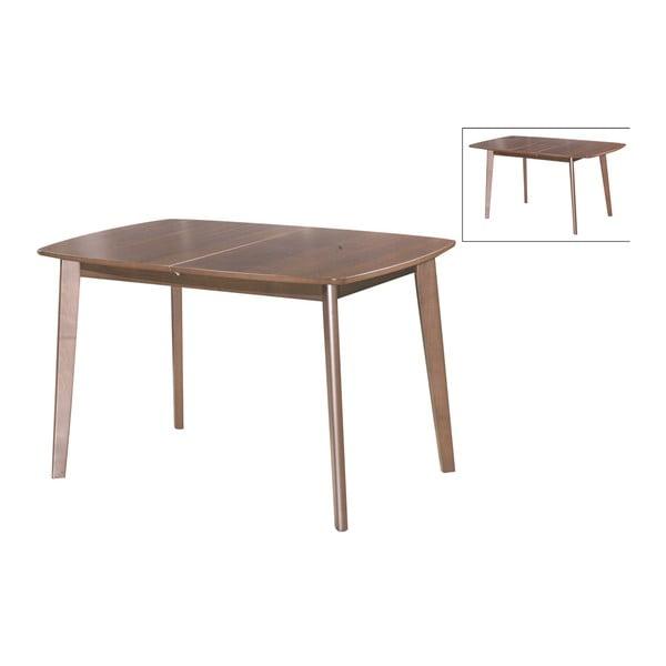 Rozkládací jídelní stůl Teo, 120-150 cm, tmavý