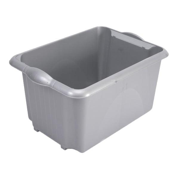 Szary pojemnik do przechowywania Addis Unistore Box Metallic, 30 l