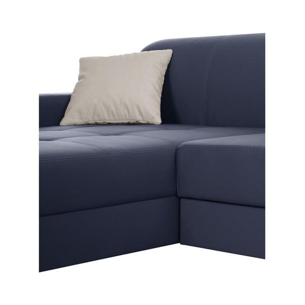 Modrá pohovka Modernist Symbole, levý roh