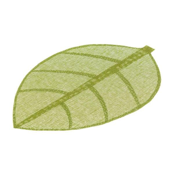 Zielona mata stołowa w kształcie liścia Unimasa, 50x33 cm