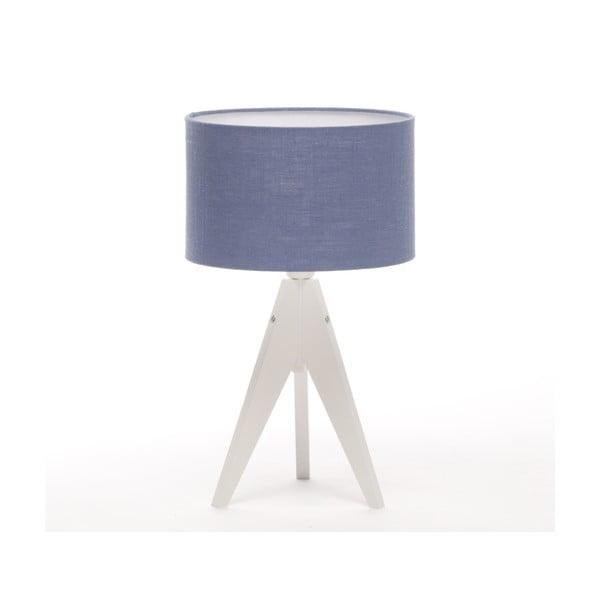 Stolní lampa Arist Cylinder Dark Blue/White